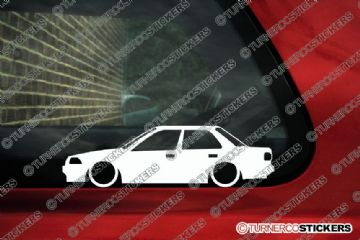 2x Low car outline stickers Toyota Corolla 4-door Sedan AE90 (E90) JDM
